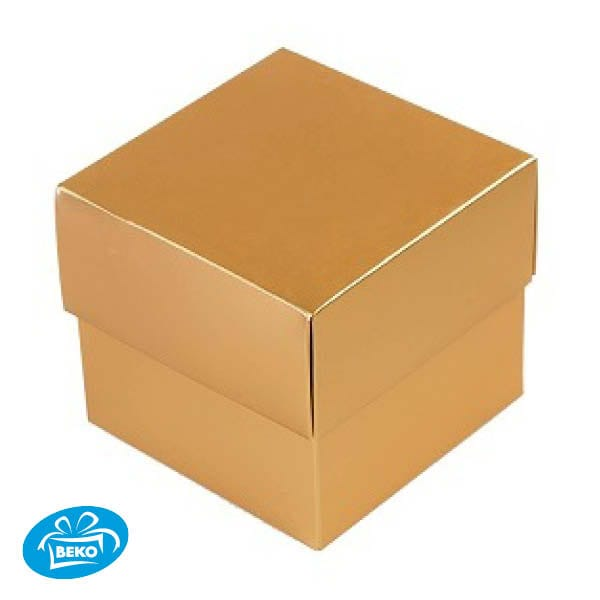 Bonbondoos 8,3x8,3x7,6 250gr.Deep Cover Box Mat Gold Metalic